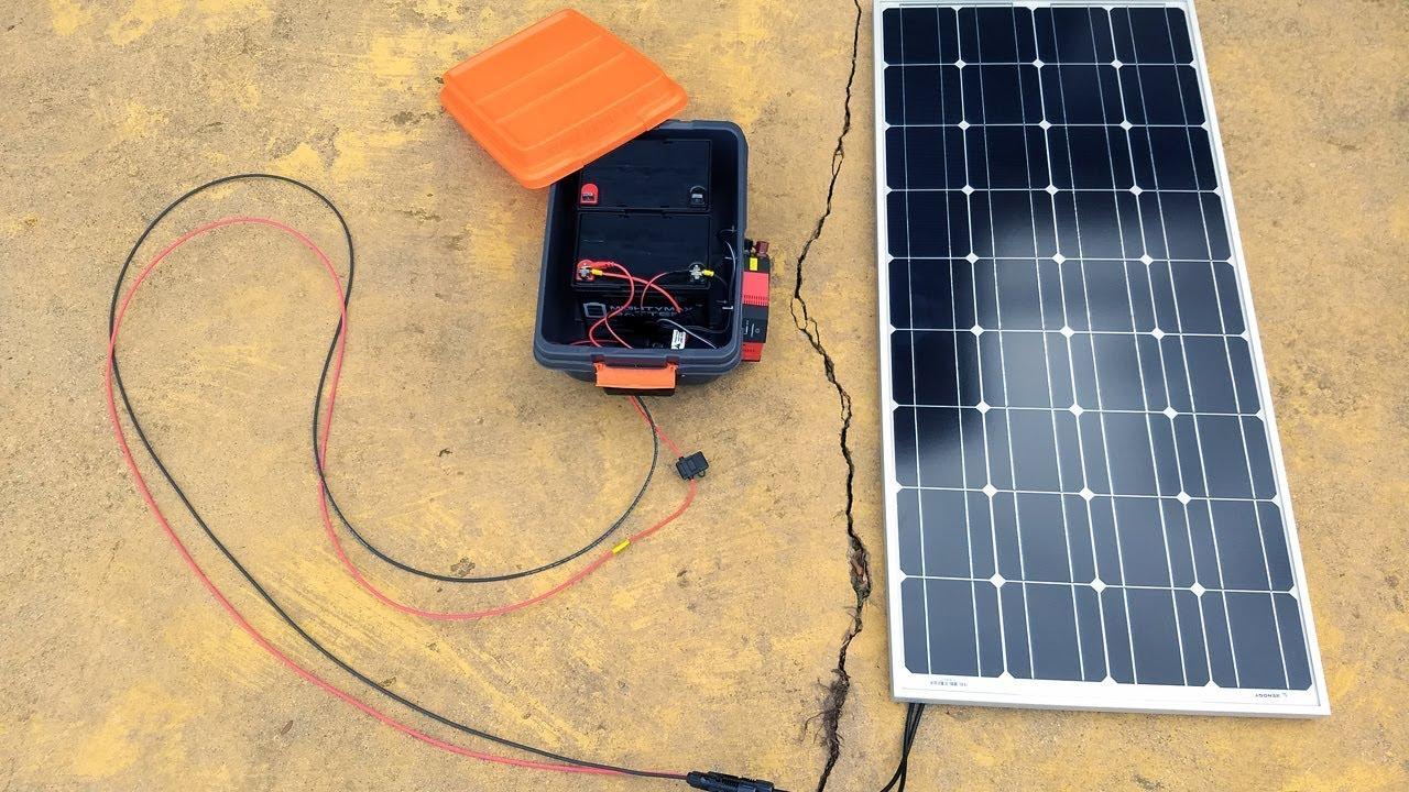 "My DIY Portable Solar Power ""Generator"
