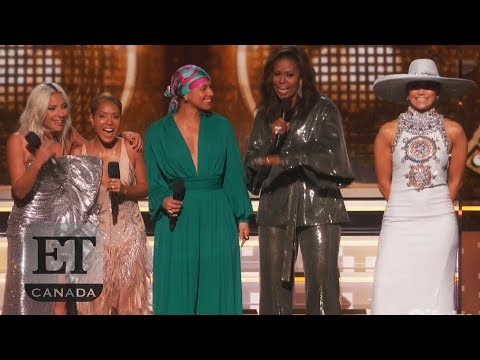 Michelle Obama At Grammys with Lady Gaga, Jennifer Lopez