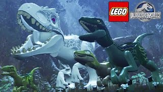 ½ T-REX ½ RAPTOR! - Lego Jurassic World #8 (Em Português)