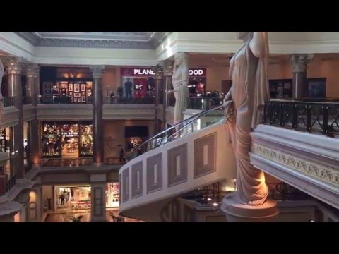 Caesars Palace hotel & casino Las Vegas walk around tour christmas 2015