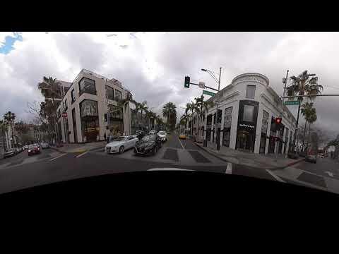 VR180  Beverly Hills Rodeo Drive - Видео онлайн