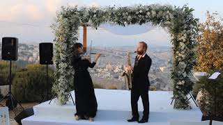 כנרת וסקסופון | מוסיקה לקבלת פנים| כרמית הכנרית | Wedding in Jerusalem