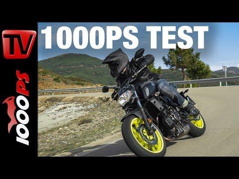 1000PS Test - Yamaha MT-07 2018 - Besseres Fahrwerk - Bessere Optik