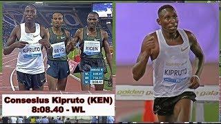 Conseslus Kipruto, KEN, 8:08.40 (WL) - 3000 M SC - May 31, 2018 - Rome/ITA, Golden Gala