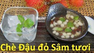ginseng soup Cách nấu Chè đậu đỏ nấm Linh chi  Китайский сладкий суп из Женьшень и грибы Лин-чжи