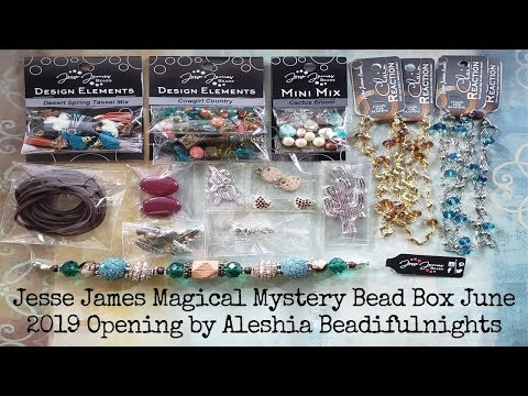 Jesse James Magical Mystery Bead Box June 2019 Opening