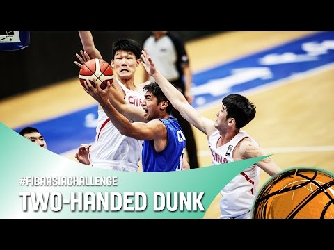 Cheng Liu with the two handed dunk while fast break! - FIBA Asia Challenge 2016
