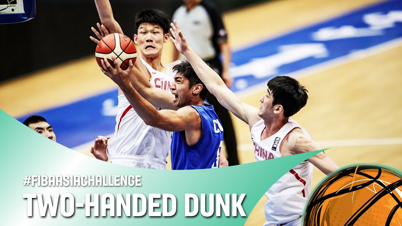 Cheng Liu with the two handed dunk on the break! - FIBA Asia Challenge 2016