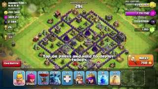 Clash of Clans: New wizard & my first live raid!