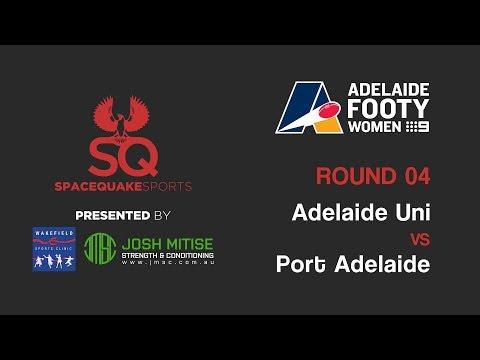 LIVE | Adelaide University vs Port Adelaide | Adelaide Footy Women