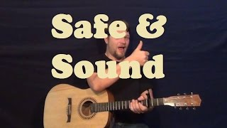 Safe and Sound (Capital Cities) Guitar Lesson Easy How to Play Tutorial Licks TAB