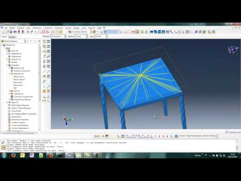 Abaqus - Aluminium Structural Stool subjected to a static load