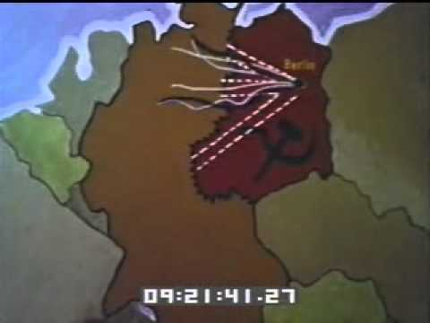 Map Of Germany Cold War.Cold War Maps Of Germany Clip 18661 Youtube