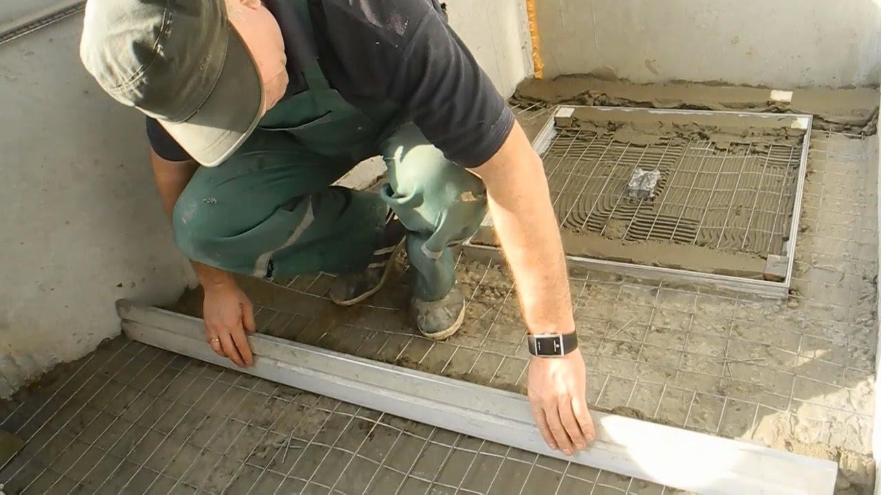 Как сделать стяжку на балконе с пожарным люком ч.3