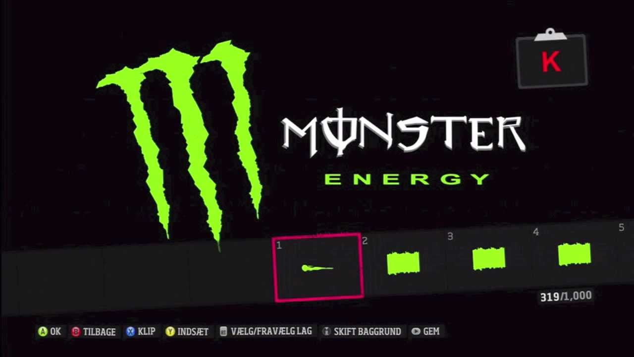 Forza Horizon Monster Energy Logo Tutorial Youtube
