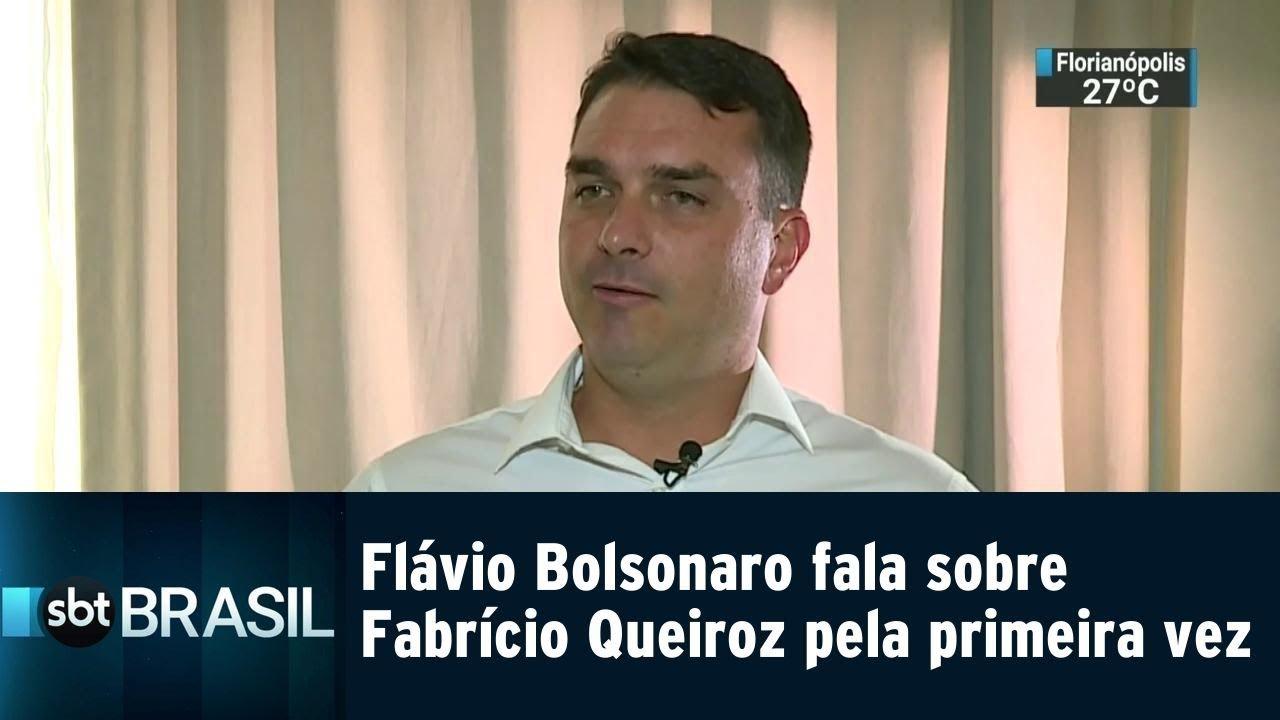 Flávio Bolsonaro fala sobre Fabrício Queiroz pela primeira vez | SBT BRASIL (10/01/19)