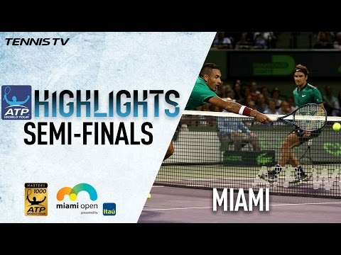 Highlights: Federer Wins Epic Over Kyrgios, Nadal Tops Fognini in Miami SFs