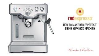 HOME ESPRESSO MACHINE: How to make red espresso® rooibos