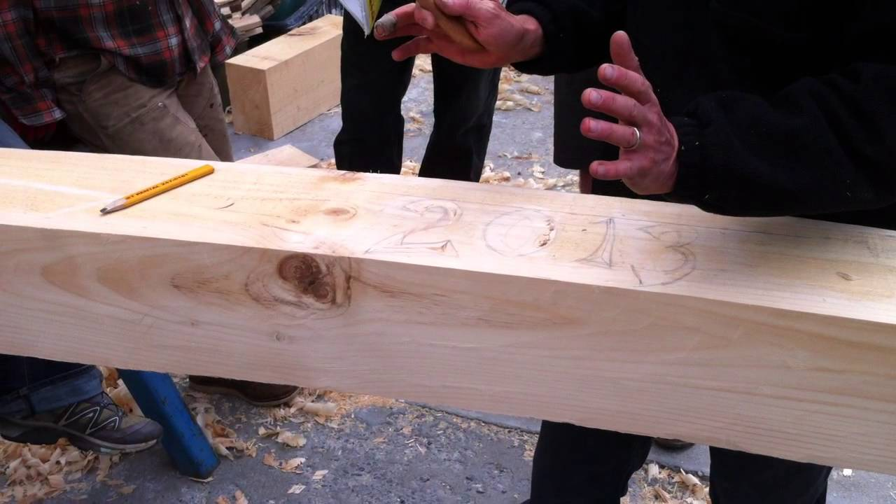Chip carving demo timber framing workshop yestermorrow