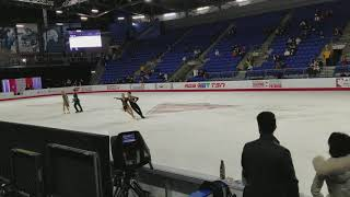 Scott Moir falling (and striking a pose) at Canadian Nationals