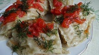 Ханум с картошкой и луком.  Рецепт по Узбекски, Казахский, Уйгурский, Татарски, Азербайджанский