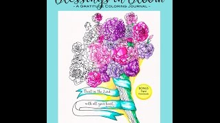 Blessings In Bloom Gratitude Coloring Journal By Color My Moods