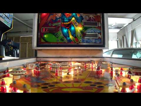 FOR SALE SUPERMAN 2FER ATARI SUPERMAN PINBALL MACHINE DEDICATED TAITO SUPERMAN ARCADE GAME PGH PA