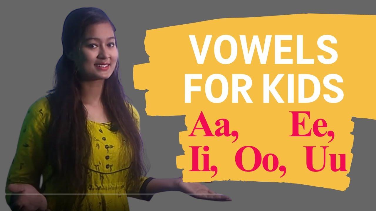Download Vowels for Kids LKG and UKG Vowels and Consonants for Kids   Grammar for Grade 1 and Grade 2