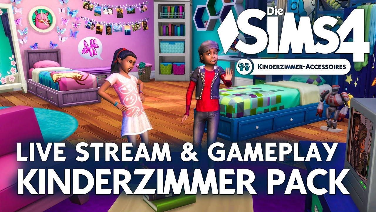 LIVE Die Sims 4 Kinderzimmer Accessoires Release Showcase U0026 Community Talk    YouTube