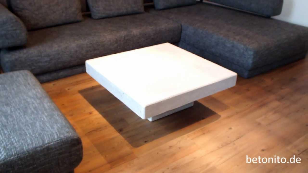 beton couchtisch mit sockel von betonito - youtube - Beton Wohnzimmertisch