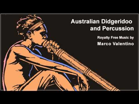 Australian Didgeridoo and Percussion - Royalty Free Music by Marco Valentino