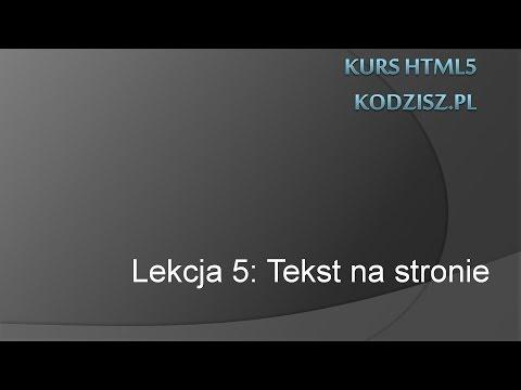 HTML5 - Tekst Na Stronie