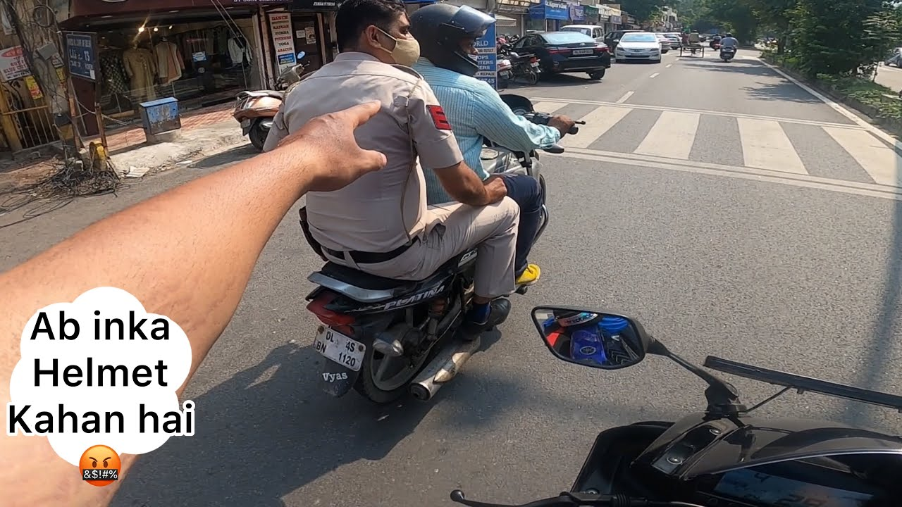 Rules Sabke liye same hain 🤬 no helmet no safety
