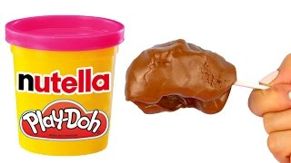 HOW TO MAKE EDIBLE NUTELLA PLAYDOUGH ♥ DIY