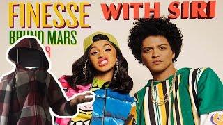 Siri loving Bruno Mars - Finesse (Remix) [Feat. Cardi B] a little too much