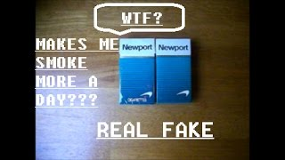 FAKE NEWPORT CIGARETTES? - NOTHING ON RJ REYNOLDS WEBSITE TO SUPPORT NEW PACK