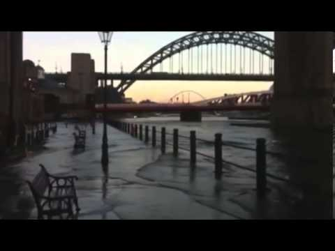 Newcastles River Tyne bursts its banks as storms hit tidal surge