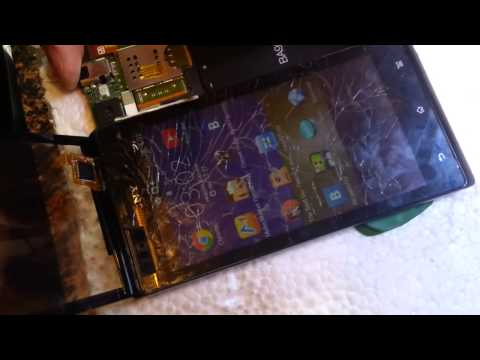 Sony Xperia J Wymiana panelu dotykowego (brak polskich napisów)