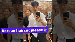 When you ask for a Korean-style haircut 💇🏻♂️ [NYC K-TOWN]