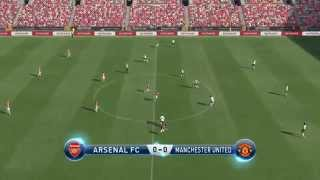 Pro Evolution Soccer 2015 ( PES 2015 ) Gameplay Match: Arsenal vs Manchester United PC Xbox PS3