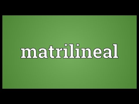 Header of matrilineal