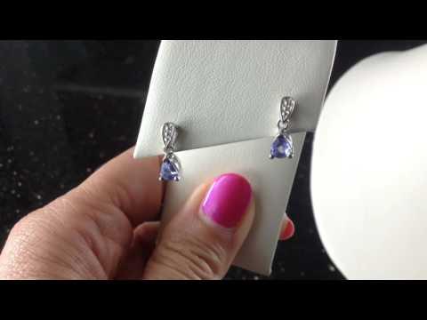 Dazzling Tanzanite Pendant & Earrings