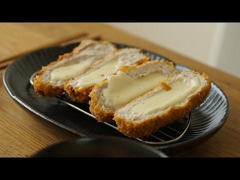 치즈뿜뿜, 치즈돈까스 : Cheese pork cutlet (Cheese tonkatsu) : 꿀키