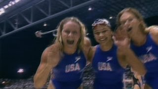 USA Set New 4x100m Freestyle Relay Olympic Record - Atlanta 1996 Olympics