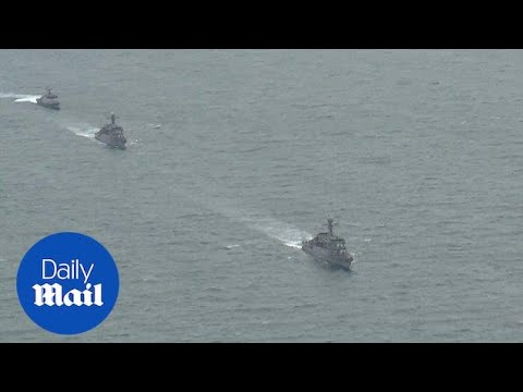 South Korea's navy holds live-fire drills in the East Sea - Daily Mail