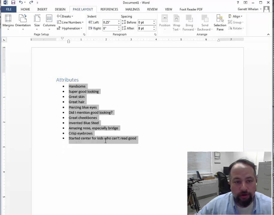 Multiple Columns in your Word Resume - YouTube