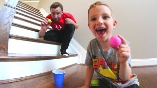 FATHER SON PING PONG TRICK SHOTS!