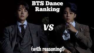 BTS Dance Ranking 2020 (with reasoning!)