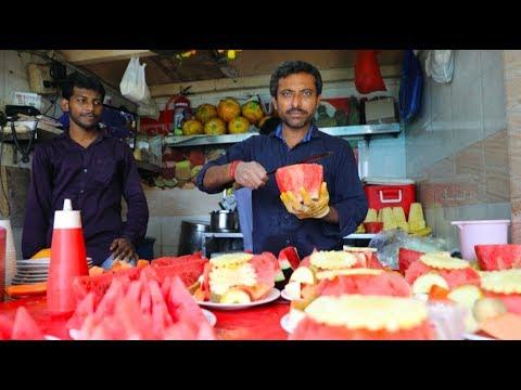 FRUIT NINJA of INDIA   Fruit Salad   Amazing Fruit Cutting Skills