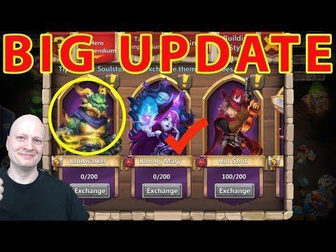 Castle Clash October Update | New Hero Landwalker | Bloody Mary | New Pet Sage Lioness | Dapper Bat